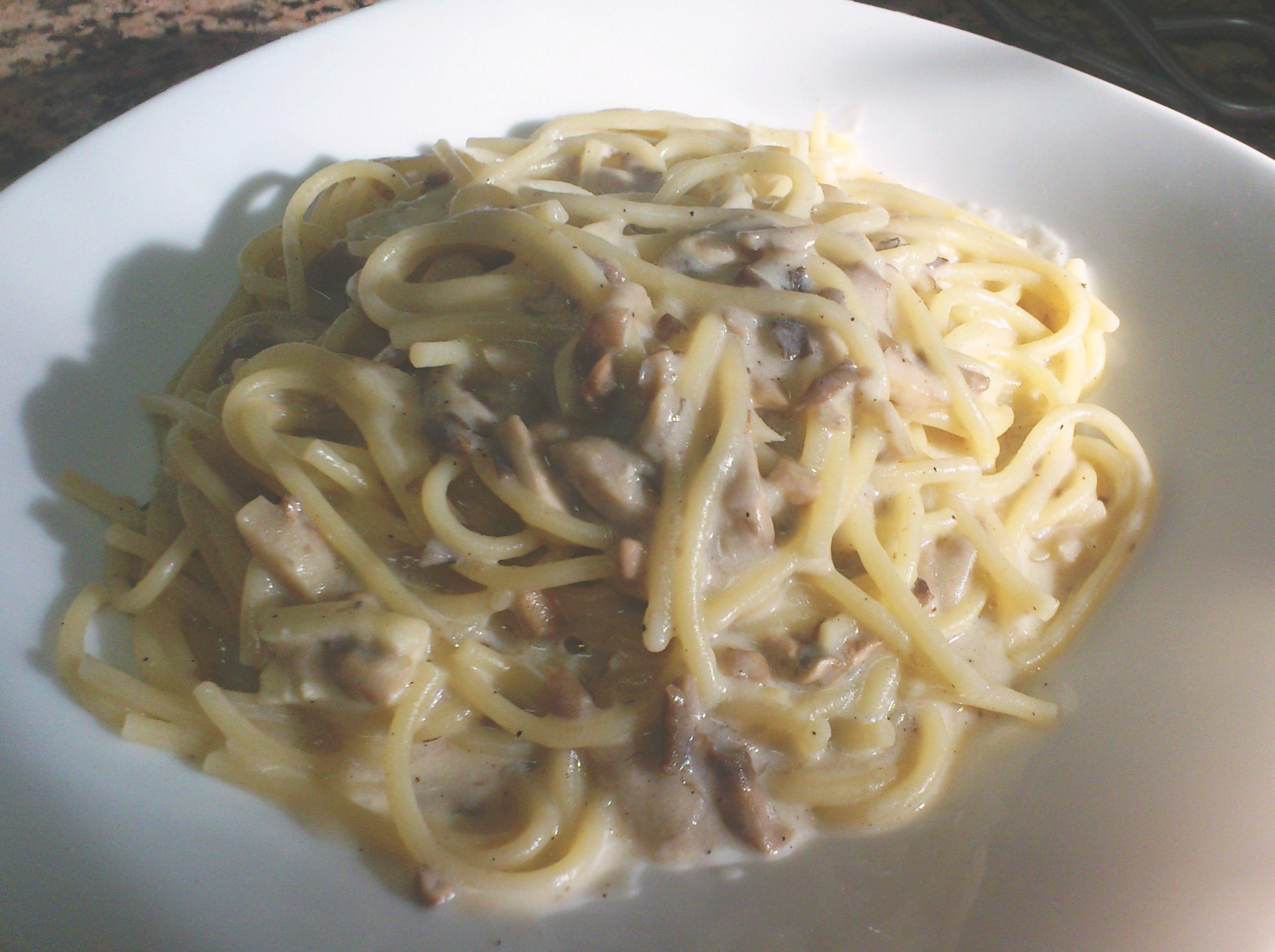 how to cook carbonara with cream of mushroom