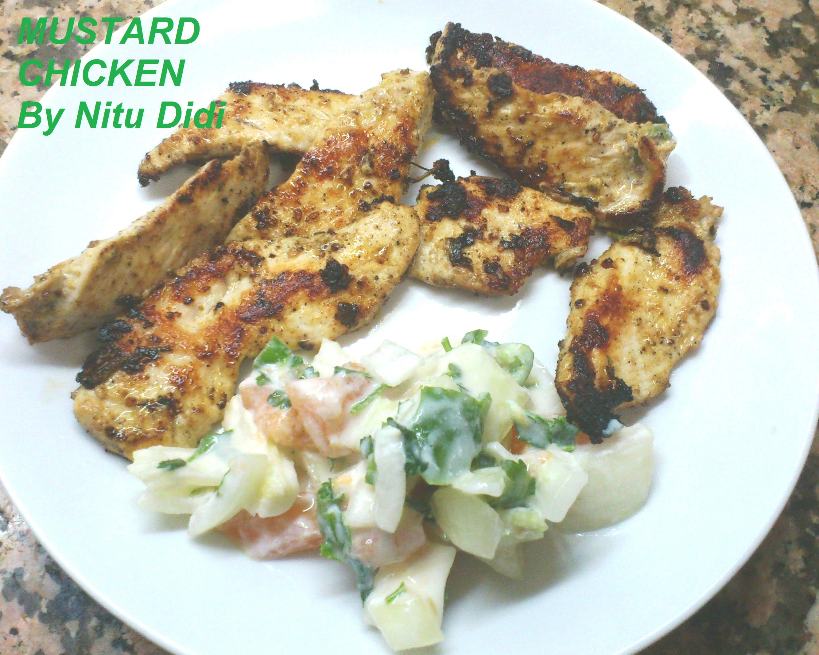 for Grilled Mustard Chicken with Fresh Corn Polenta and other mustard ...