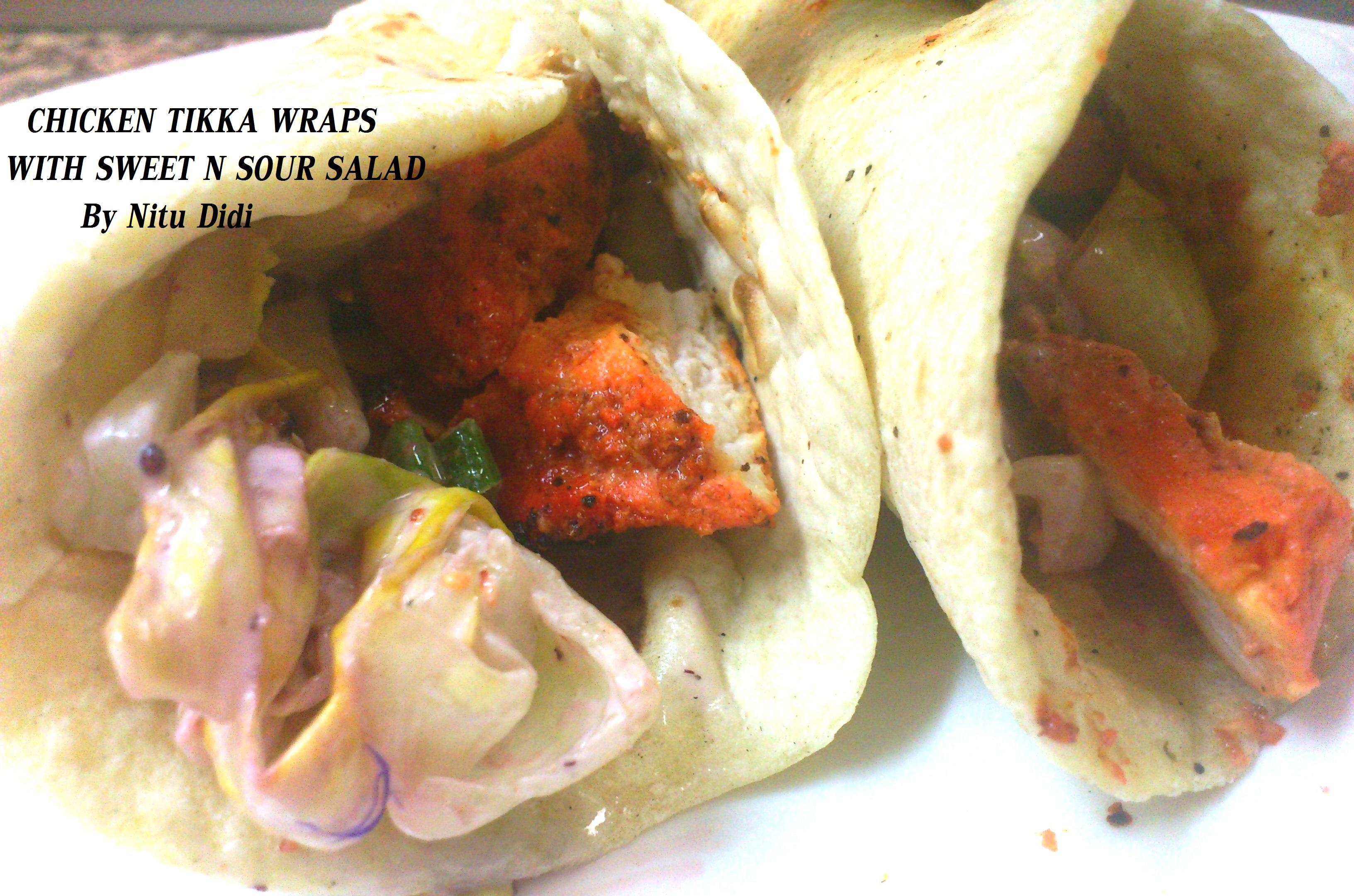Watch Chicken Tikka Chapati Wrap with Saffron Yogurt Recipe Recipe video