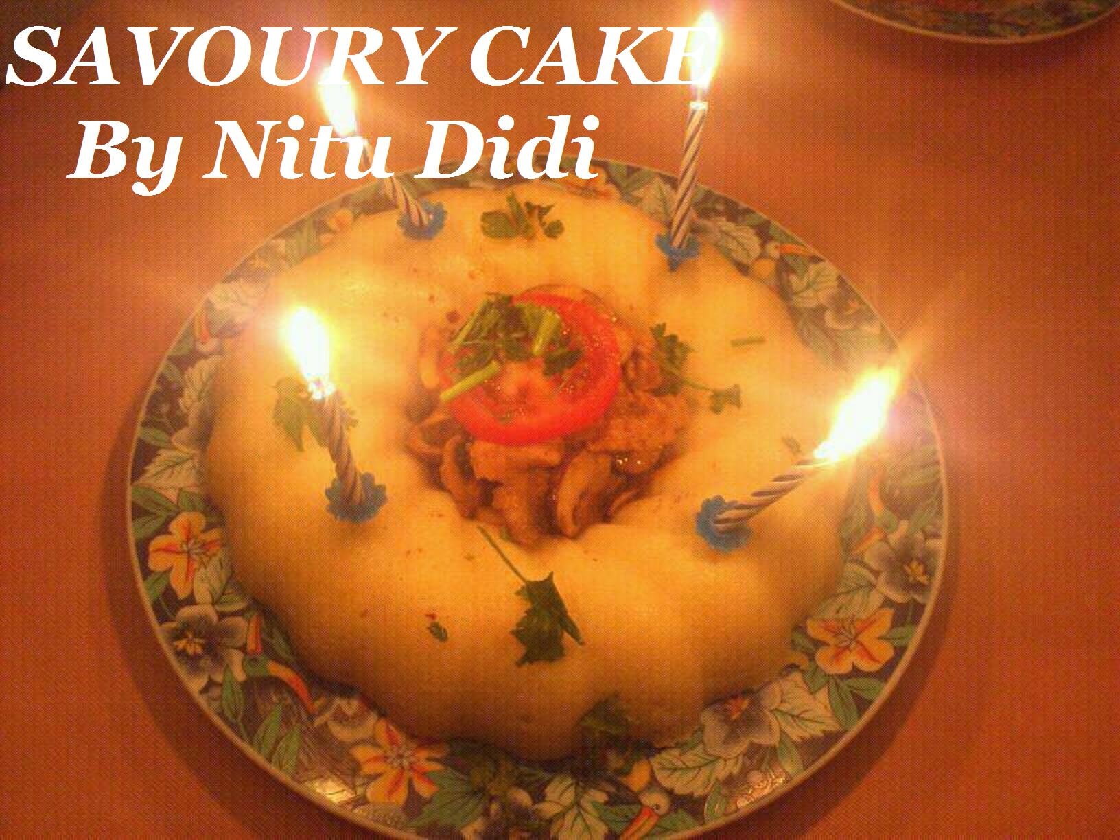 A Popeyes Chicken Birthday Cake Really This Could Have: SAVORY BIRTHDAY CAKE WITH CHICKEN CURRY