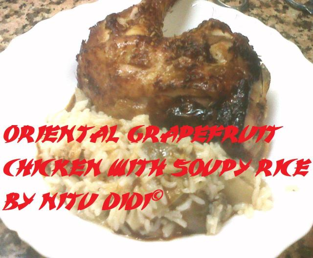 ORIENTAL GRAPEFRUIT CHICKEN WITH STOCK RICE
