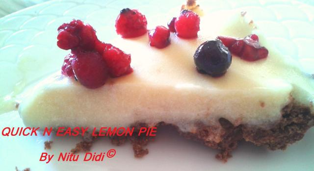 QUICK LEMON PIE