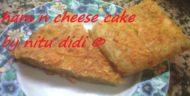 SAVOURY HAM N CHEESE CAKE