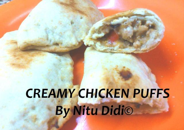 CREAMY CHICKEN PUFFS