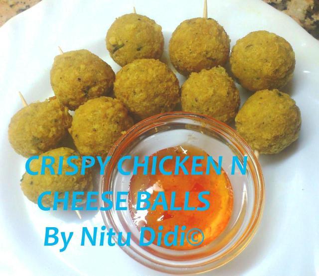 CRISPY CHICKEN AND CHEESE BALLS
