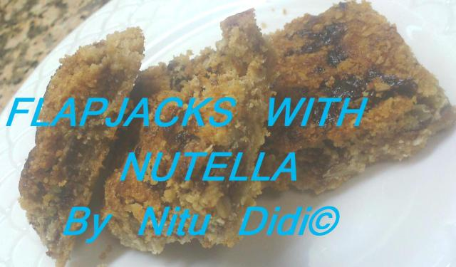 FLAPJACKS WITH NUTELLA