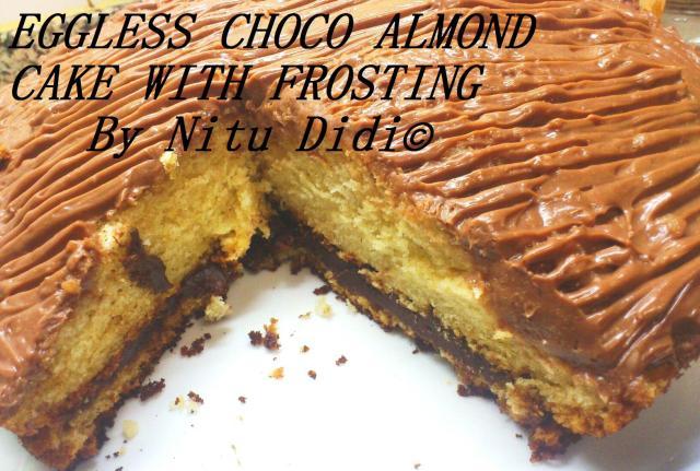 EGGLESS CHOCO ALMOND CAKE