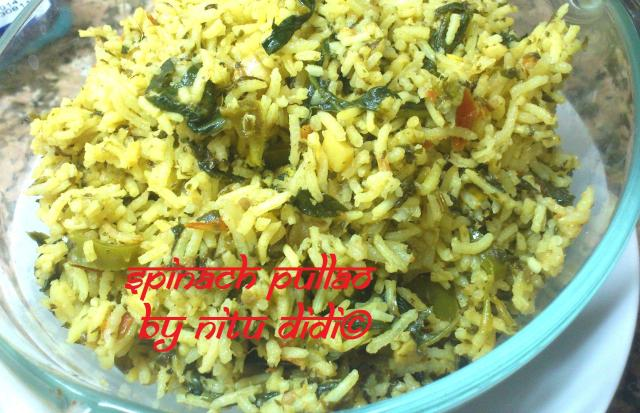 SPINACH PULLAO