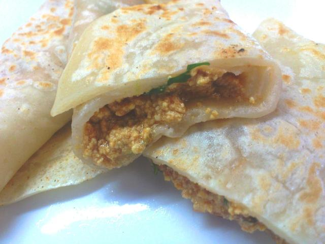 WHOLE WHEAT CREPES WITH PANEER FILLING