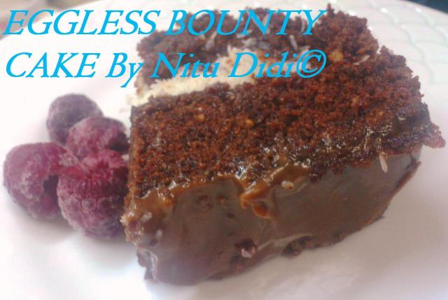EGGLESS BOUNTY CAKE
