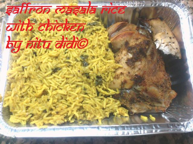 SAFFRON MASALA RICE WITH CHICKEN