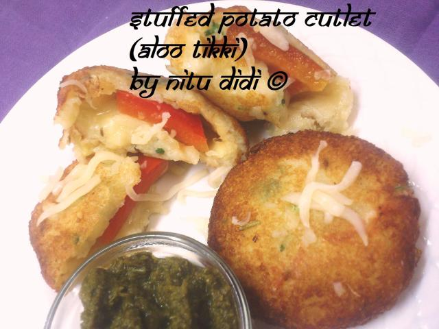 STUFFED POTATO CUTLET (ALOO TIKKI)