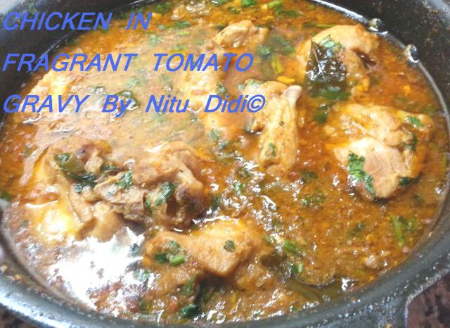 CHICKEN IN FRAGRANT TOMATO CURRY