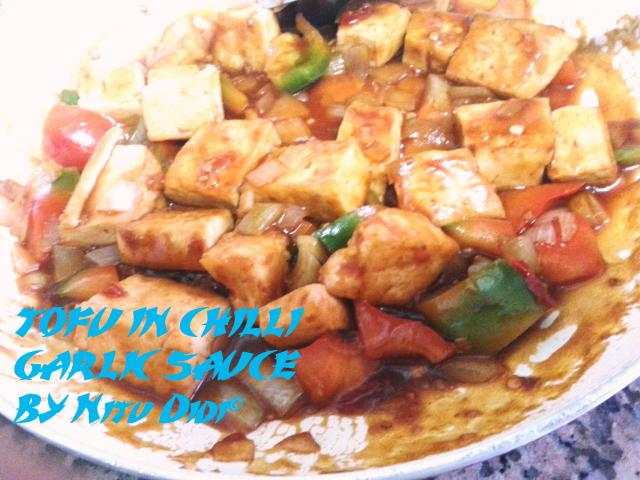 TOFU IN CHILLI GARLIC SAUCE
