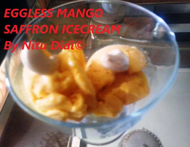 EGGLESS MANGO SAFFRON ICECREAM