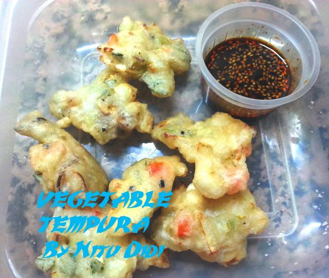 VEGETABLE TEMPURAS WITH CHILLI SOYA SAUCE