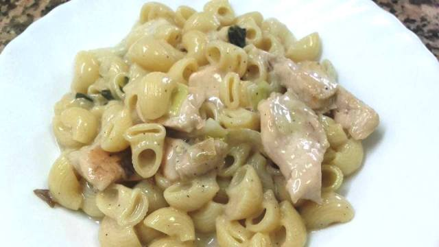 CHICKEN ALFREDO WITH VEGGIES N PASTA