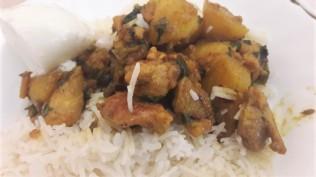 black pepper chicken n rice